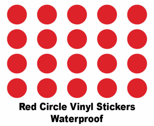 Coloured Sticky Self-Adhesive Vinyl Dot Stickers Circle Shaped Vinyl Stickers