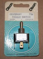 Vintage Olson Electronics Und Lab Inc Toggle Switch On-off-momentary Spdt