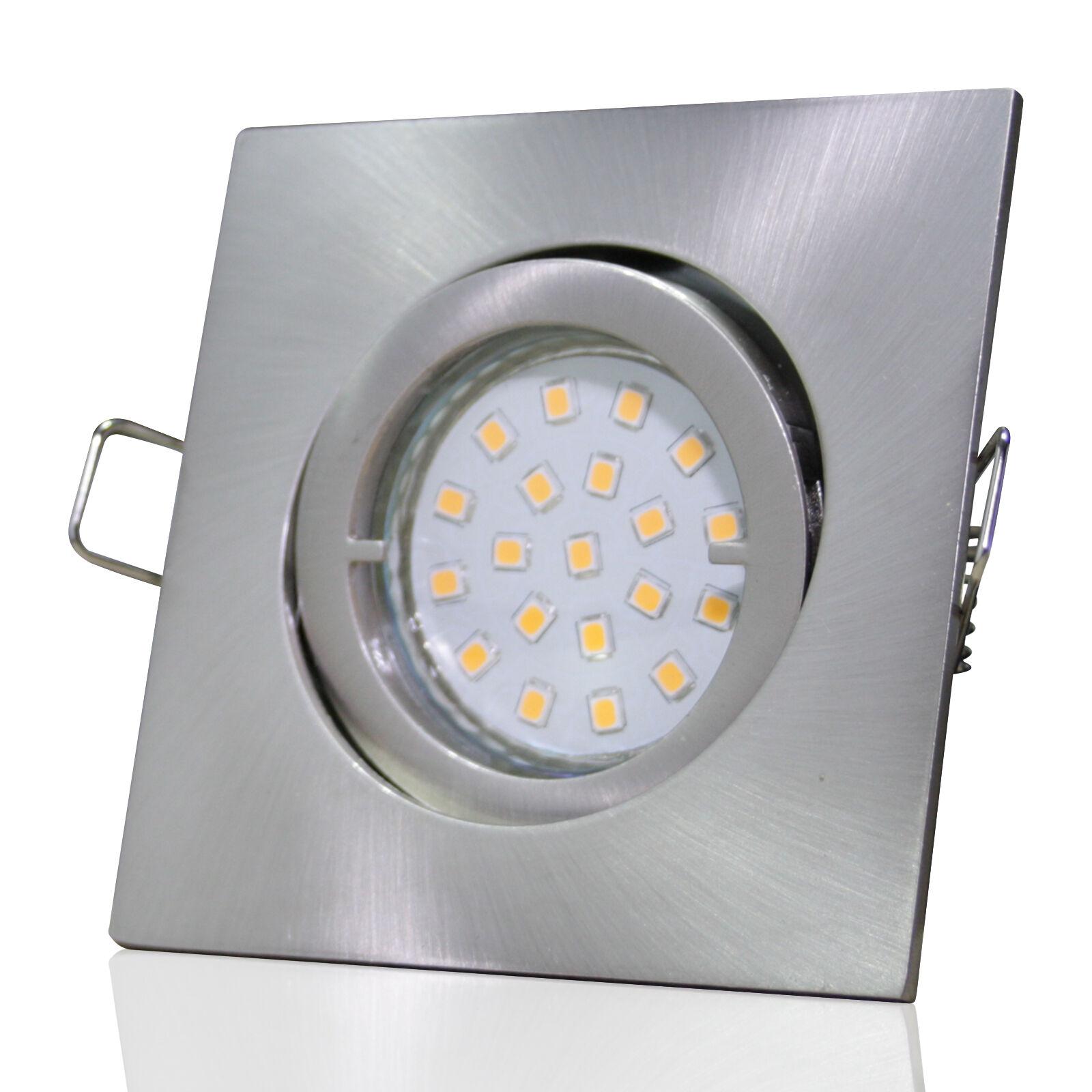 10 x SMD Einbauleuchten Dario 230Volt Strahler 3W Power LED Einbaustrahler Spots