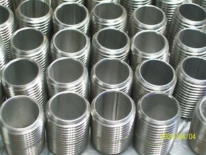 """304 Stainless Steel 1//2/"""" Inch NPT Close Pipe Nipples 60 Lot Of"""