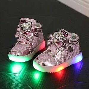 new style 64632 90229 Dettagli su SCARPE BAMBINA LUCI HELLO KITTY LED Bimba Baby shoes lights