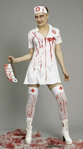 Kostüm blutige Krankenschwester 2tlg Kleid 36 38 40 42 44 46 Zombie