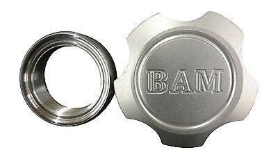 Spun Aluminum Gas Tank Badass Billet gas cap with Steel Weld-on Fill Neck