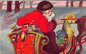 Christmas-Postcard-Santa-Claus-Driving-Sleigh-Through-The-Snow-Toys-125309