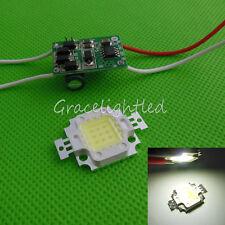 1kit 10W Cool White 6500k High Power LED Chip + 10Watt Led Driver 12V  24V DC