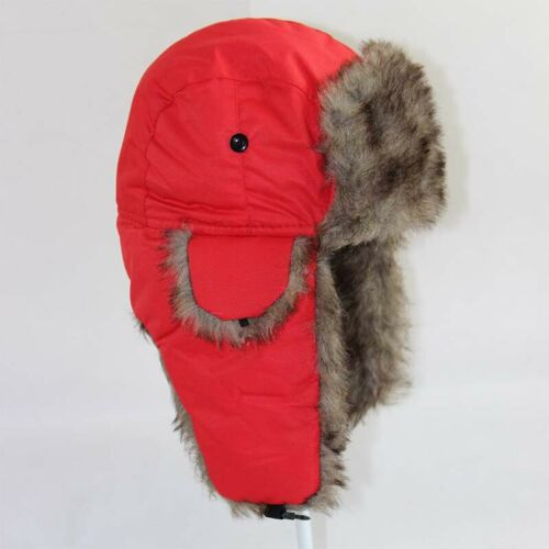 Russian Aviator Trapper Adult Winter Men Hat Ski Trooper Earflap Bomber Fur Warm