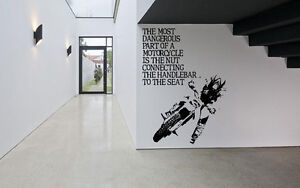 Wall Decor Art Vinyl Sticker Mural Decal Sport Bike Ride Dirtbike Quote SA699