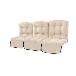 Water Resistant Replacement Cushion for 3 Seater Swing Seat Stone