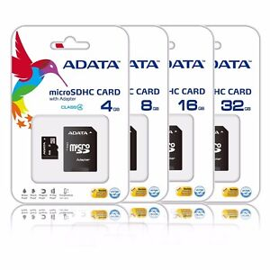 4GB 8GB 16GB 32GB Micro SD SDHC Class 4 TF Flash Memory Card Adapter Lot