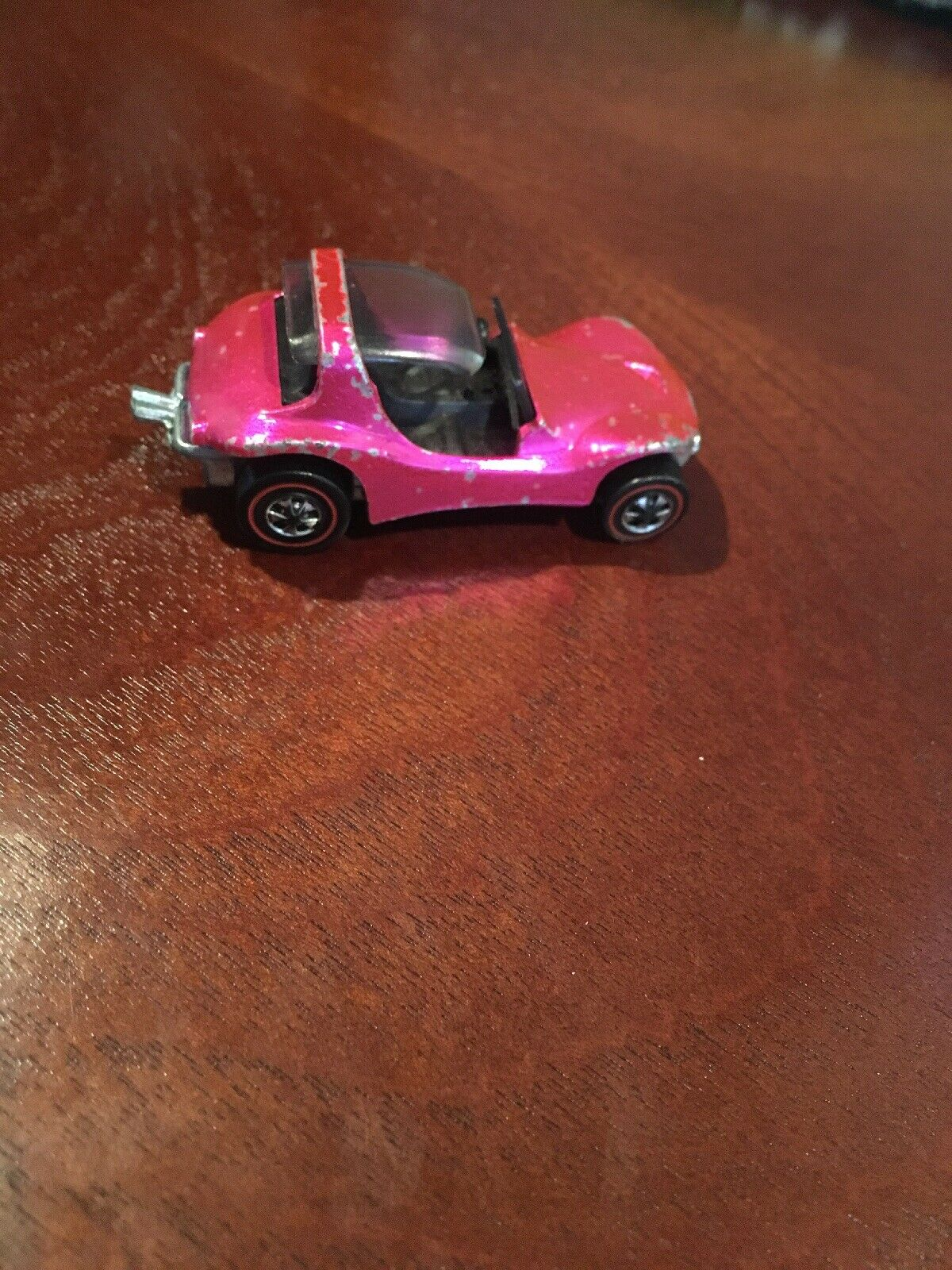 1969 HOT WHEELS sable rose crabe vintage très bon état rougeline
