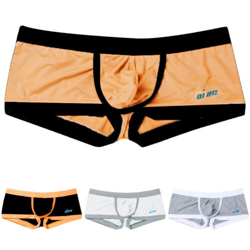 2019 Gents Trunks Mens Ice Silk Boxer Briefs Pants Shorts Bulge Pouch Underwear