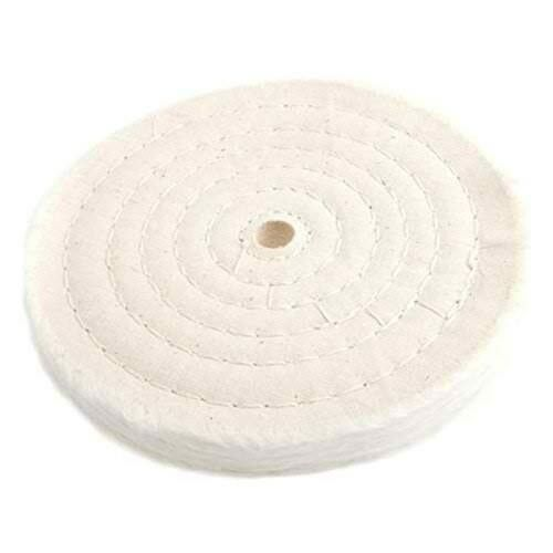 Forney 72040 Cotton Buffing Wheel Spiral Sewn with 1//2 Arbor 6-Inch-by-55-Ply