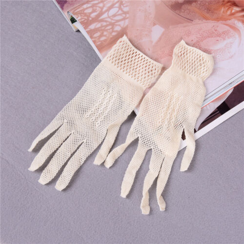 1 Pair Fishnet Mesh Women Gloves Summer UV Protection Lace Wedding GloveTB
