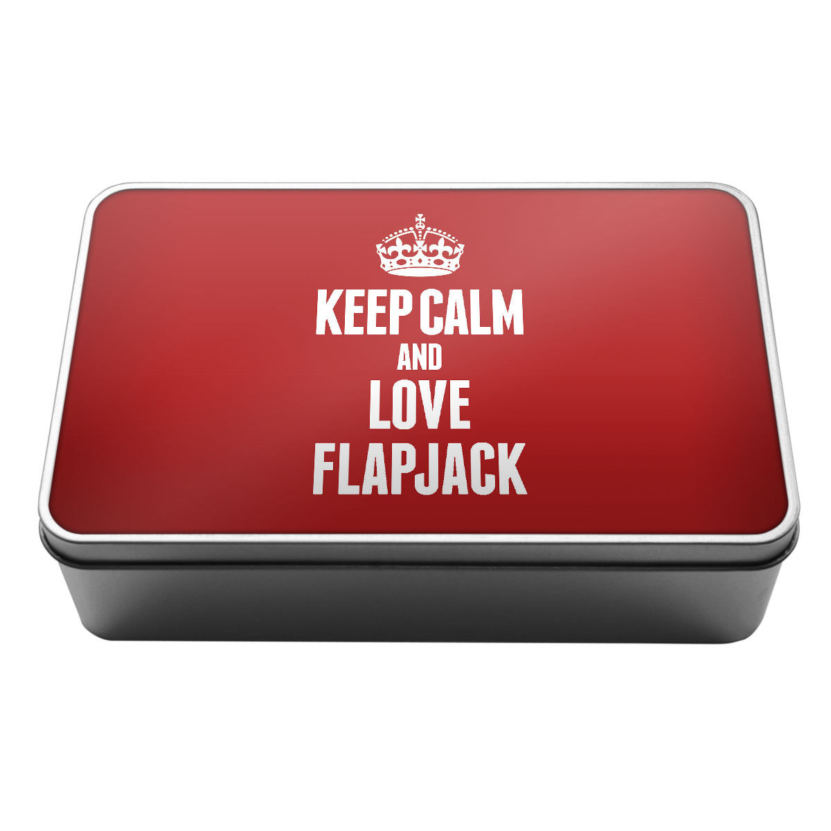 RED Keep Calm and Love Flapjack Metal Storage Tin Box 1088