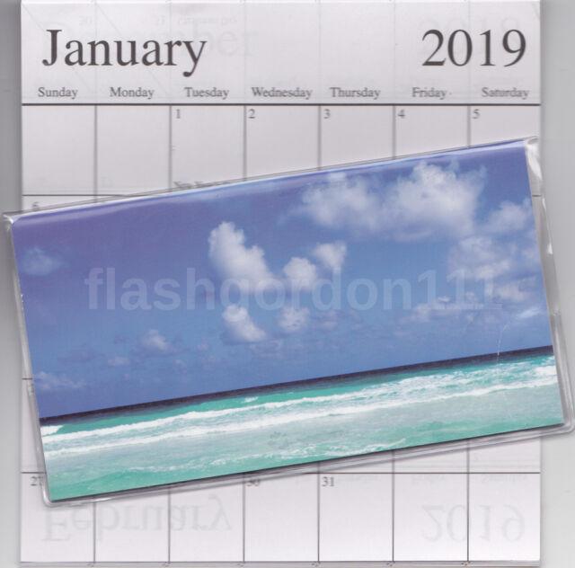 1  2019-2020 BEAUTIFUL BEACH 2 Two Year Planner Monthly Pocket Calendar Datebook