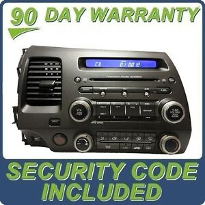 honda civic premium audio system radio stereo wma mp3 cd. Black Bedroom Furniture Sets. Home Design Ideas