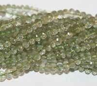 """AA 10"""" St Green  Amethyst Faceted Rondelle Beads 7x5mm To Quality"""