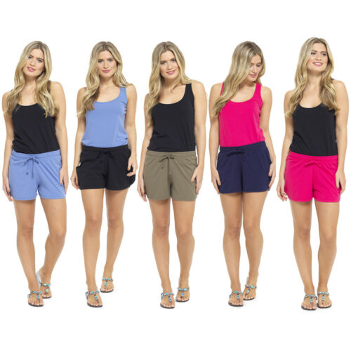 LADIES WOMENS TOM FRANKS CASUAL ELASTICATED WAIST JERSEY SHORTS SUMMER NEW