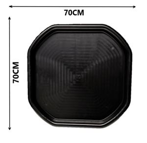 Petit 70 cm x 70 cm Ciment Mélange Plateau Plâtrage Spot en plastique Noir Heavy Duty