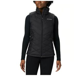 Columbia-Women-039-s-Heavenly-Vest-XL-Black-Thermal-Reflective-Insulated-1738141010