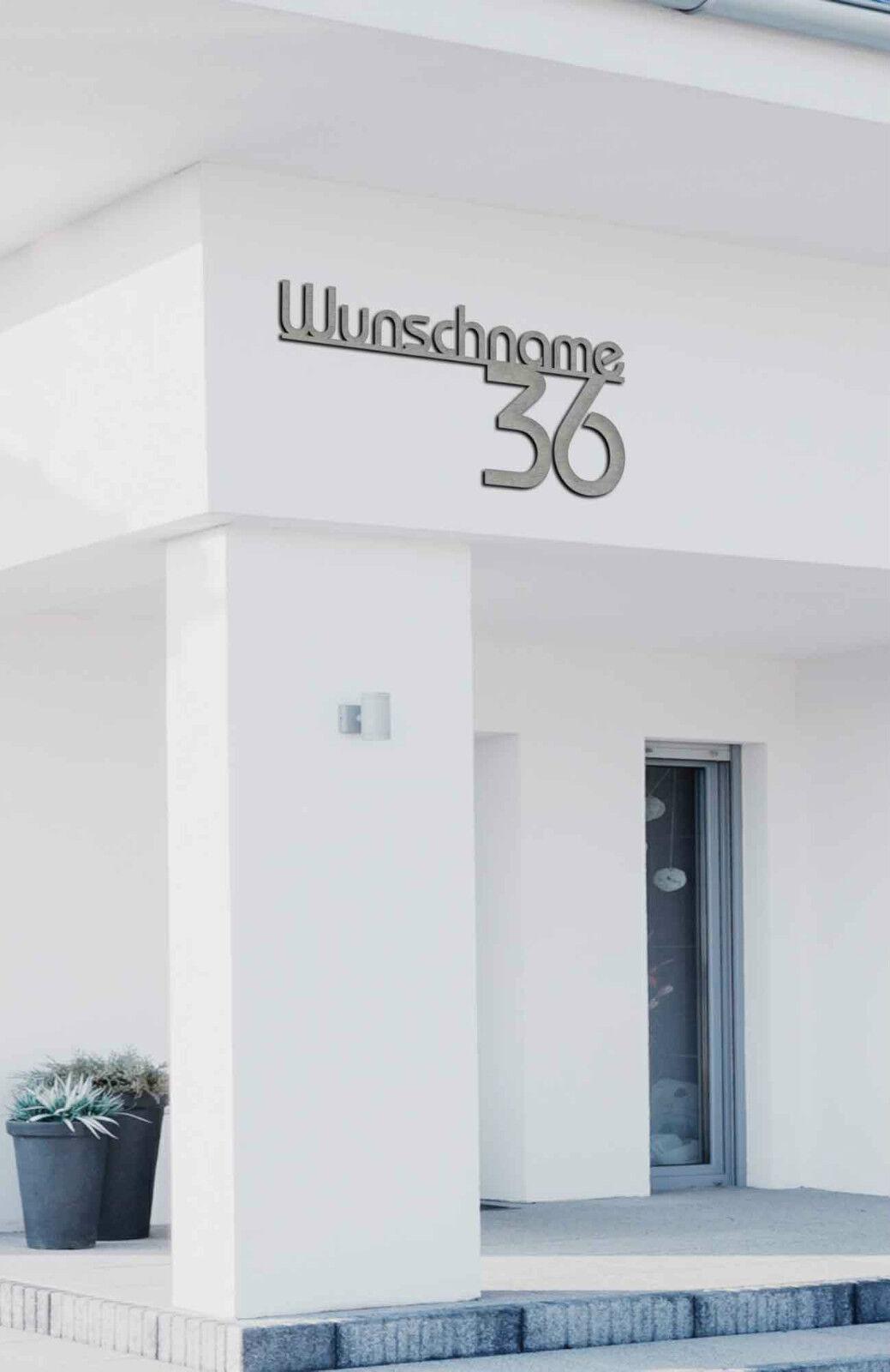 HAUSNUMMER Edelstahl,EDELSTAHLHAUSNUMMER, 50cm,60cm,80cm,LED ALEZZIO OPTIONAL