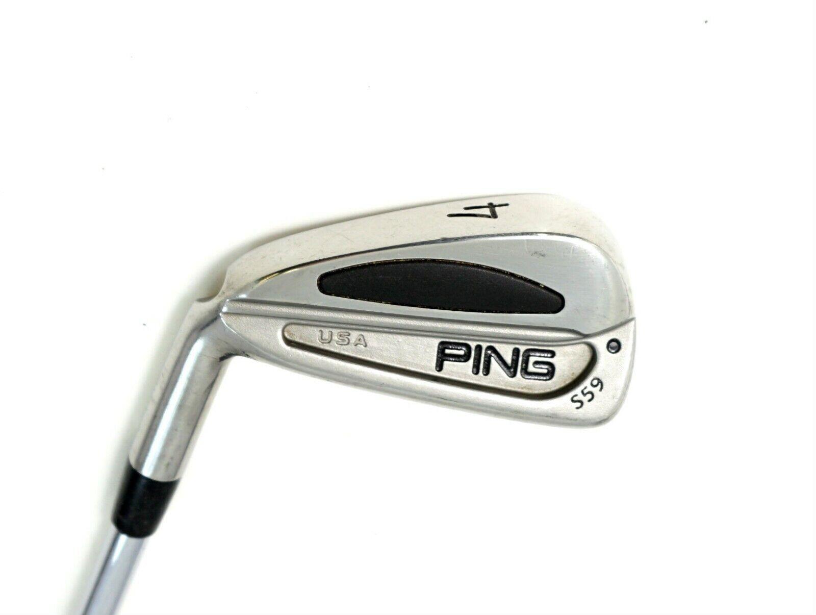 Zurdo  Ping S59 Punto Negro Hierro 4 Eje de acero rígido, empuñadura de Ping  autentico en linea