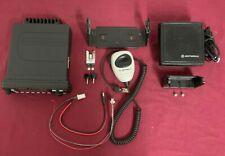 Upgraded Motorola Mcs2000 Uhf 40 Watt 250ch Smartzone 450 520mhz Radio Complete
