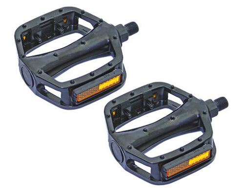 """New Bicycle VP-Style Alloy Pedals 1//2/"""" Black."""