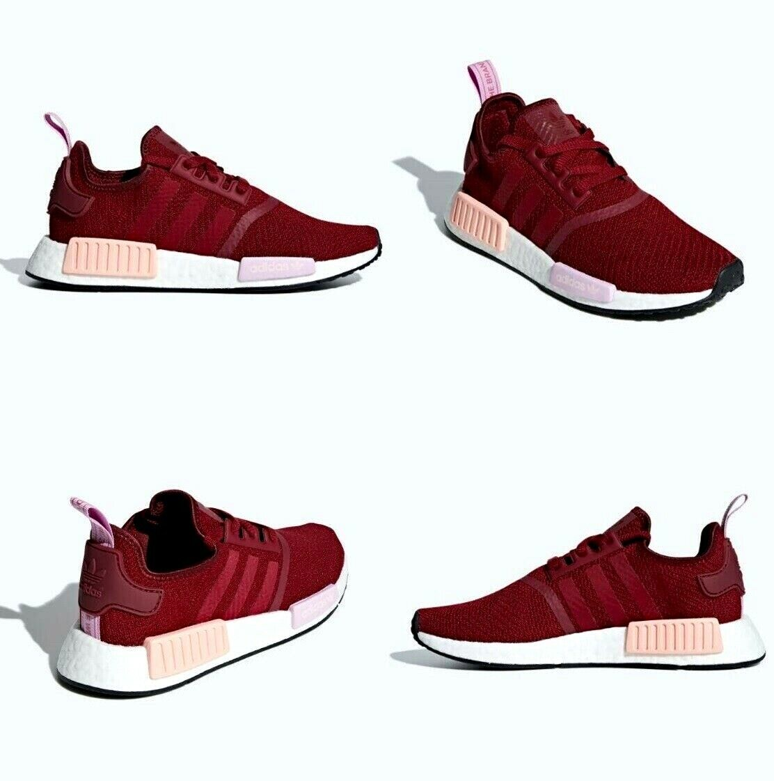 Adidas NMD R1 W Boost Burgundy   Clear orange Womens Size 6.5 US NIB B37646