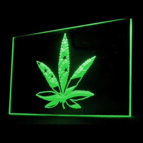 220027 Marijuana Hemp Leaf US Flag lifestyle Hero Hay for Sale LED Light Sign