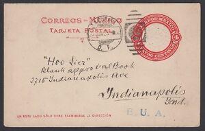 MEXICO-1923-Post-Card-130a-Tacubaya-Indiannapolis