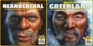 NEW-Neanderthal-amp-Greenland-Board-Games-Kickstarter-Ed-Phil-Eklund-Sierra-Madre