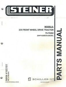 s l300 steiner 235 front wheel drive tractor parts manual \