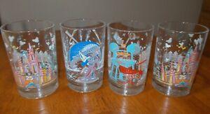 McDonalds Walt Disney World Remember The Magic 25th Anniversary Glasses Set of 4