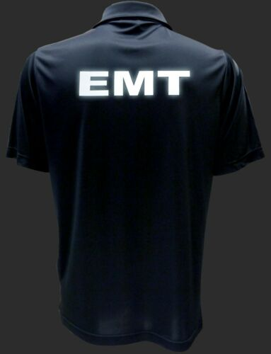 Performance Polo w// moisture wicking technology EMT Navy Polo REFLECTIVE design