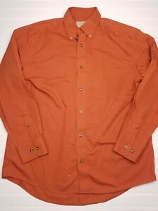 Cabela-039-s-Men-039-s-Outfitter-Series-Orange-Long-Sleeve-Button-Down-Size-Large-Z15