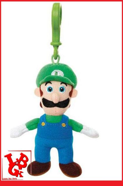 LUIGI MARIO BagClip Porte Clefs Peluche super bros 8 Cm Jakks Nintendo # NEUF #