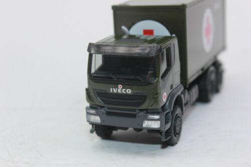 Herpa 746519 Iveco Trakker 6x6 abrollcontainer camiones Bundeswehr 1:87 h0 nuevo embalaje original