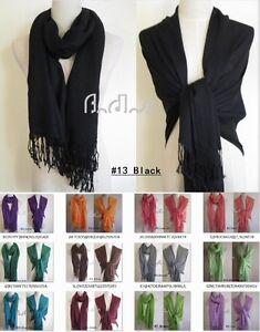 34-colors-Soft-sexy-Ladies-Pashmina-Scarf-Wrap-Long-Shawl-Women-girl-winter