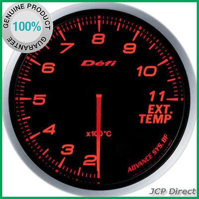 DEFI Link Meter ADVANCE BF Exhaust Temperature Gauge Amber Red