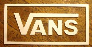 1x Vans Cut Vinyle Sticker-vans Skate Skateboard Urban Hq Sk8-afficher Le Titre D'origine Renforcement De La Taille Et Des Nerfs