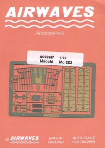 Airwaves 1//72 Macchi C.202 etch for Hasegawa kit # AEC72067