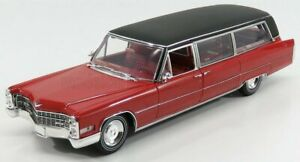 GREENLIGHT 1/18 CADILLAC | S&S LIMOUSINE 1966 | RED BLACK