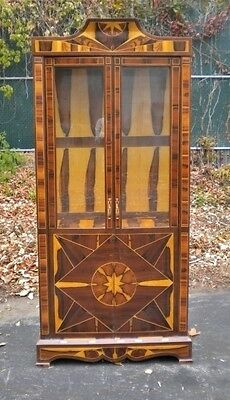 French Art Deco style Rosewood bookcase display cabinet.