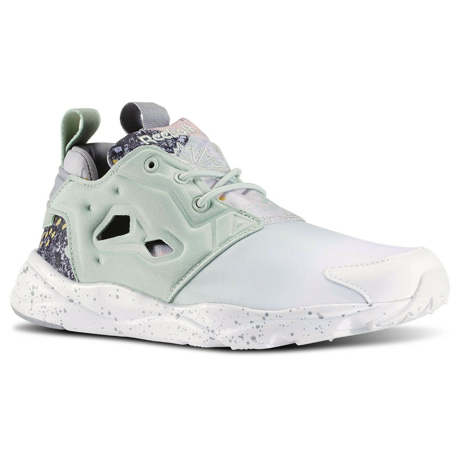 Reebok Women Furylite Contemporary Sage Mist White Tin Grey V69636 Sneakers