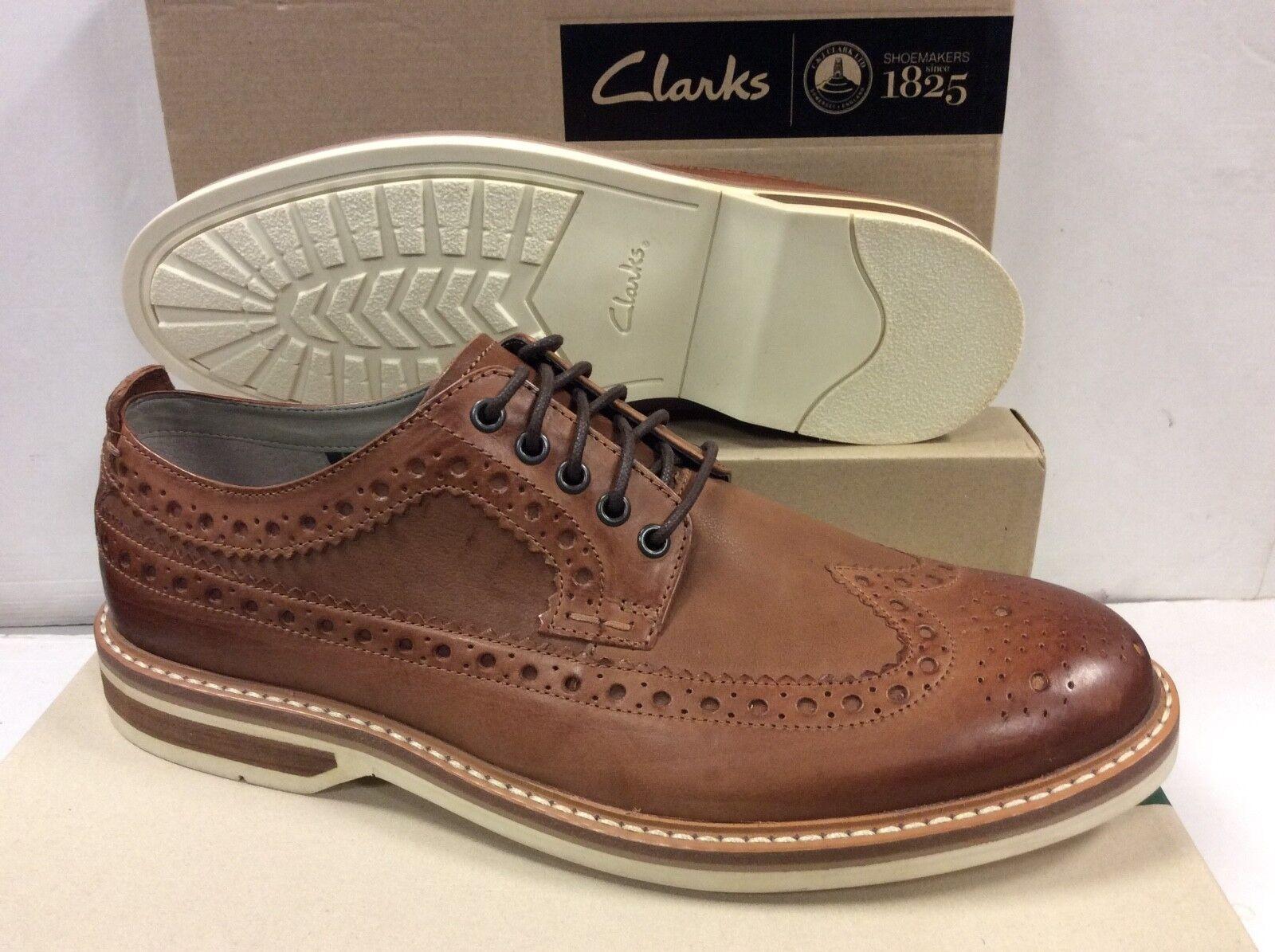 Clarks Pitney  Marronee Leather Mens scarpe, Dimensione UK 9.5   EUR 44  tutto in alta qualità e prezzo basso