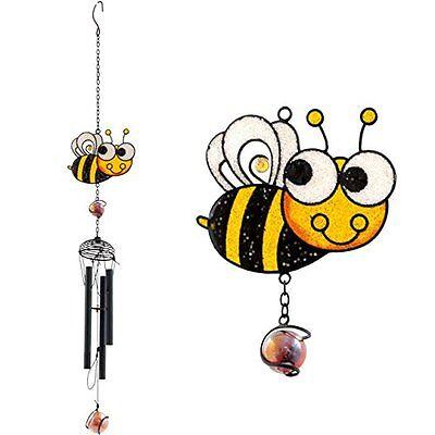 Fair Trade Cute Bee Windchime Hanging garden decoration