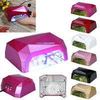 36w Led Pro Sèche Ongles Lampe Uv Lumière Nail Art Manucure Machine