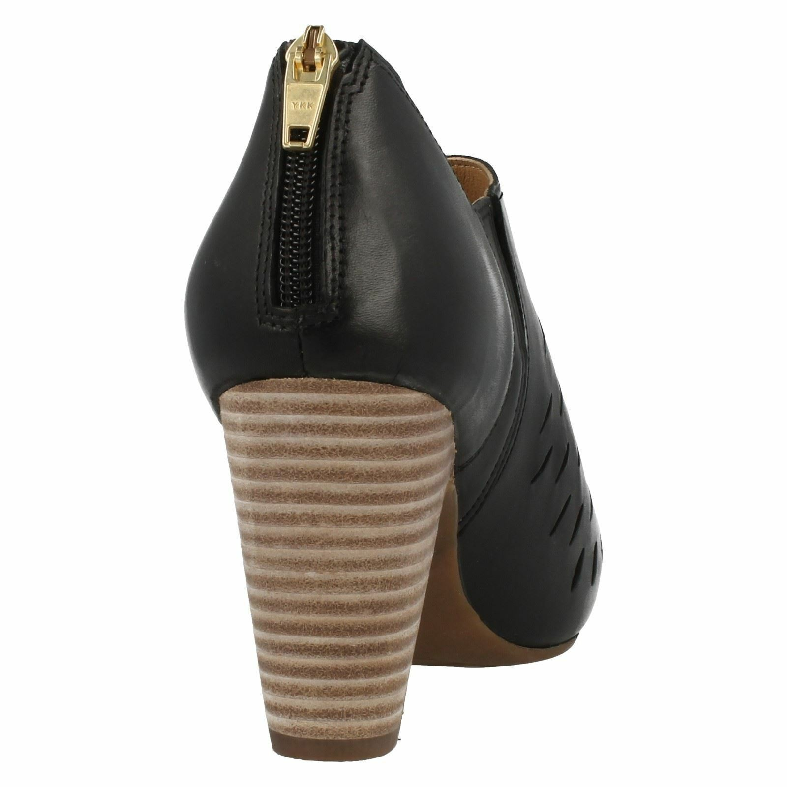 LADIES CLARKS CLARKS CLARKS LEATHER CUT OUT PEEP TOE SMART FORMAL COURT SHOES SIZE OKENA POSH a41e01