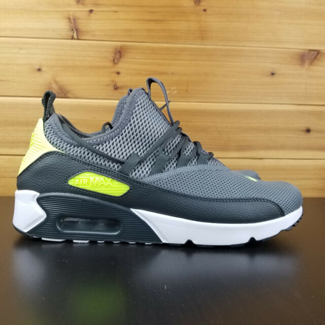 100% authentic ee8d0 fee37 Nike Air Max 90 EZ Dark Grey Volt White Men Running Shoes Sneakers  AO1745-003